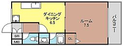 アニマート姫島[603号室]の間取り