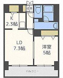 ラクラス札幌北7条[5階]の間取り