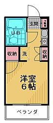 ミヤ・クレール百草[203号室]の間取り