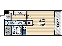 サンプラザ総持寺[4階]の間取り