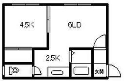 サンセットK6・3[302号室]の間取り
