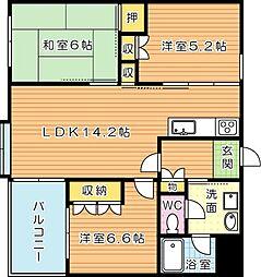 アメニス桜山寺 C棟(分譲賃貸)[8階]の間取り
