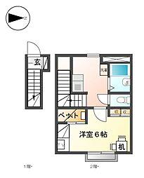 中田第三[2階]の間取り