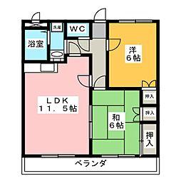 グリーンワイズ[2階]の間取り