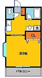 栃木県宇都宮市雀の宮5の賃貸アパートの間取り