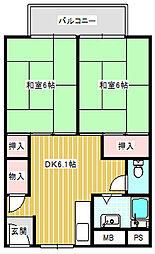UR住吉団地[6-1011号室]の間取り