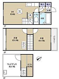 [テラスハウス] 千葉県船橋市松が丘1丁目 の賃貸【千葉県 / 船橋市】の間取り