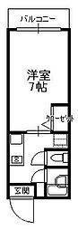 大阪府大阪市阿倍野区文の里4丁目の賃貸アパートの間取り