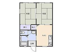 サンハイツ峯[2階]の間取り