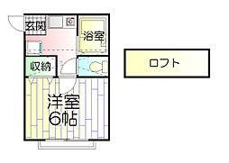 アンリシール八幡[2階]の間取り