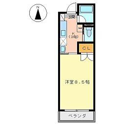 YKIIマンション[302号室]の間取り