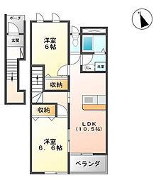 S&C[2階]の間取り
