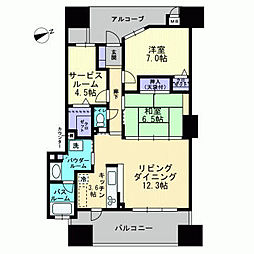 アルファタワー桜町[1706号室]の間取り