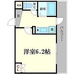 リバティ桜川[3階]の間取り
