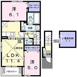 モンレーヴ2[2階]の間取り