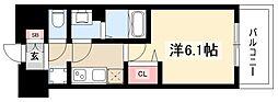 プレサンスTHEMOTOYAMA 7階1Kの間取り
