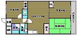 東尾マンション[2階]の間取り
