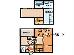 i・Room並木 (アイルームナミキ)[2階]の間取り