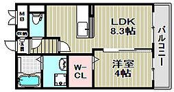 サザンウイング[2階]の間取り
