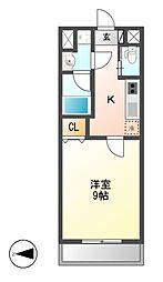 アマーレ東海通[6階]の間取り