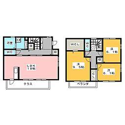 D−room神山 G・H棟[1階]の間取り
