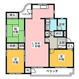 ハウス岐阜[3階]の間取り