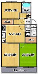 宮崎台レジデンス[202号室号室]の間取り