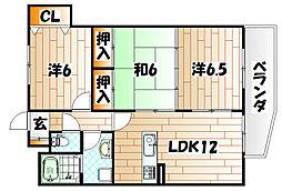 エル片野I[4階]の間取り