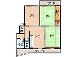 コーポ岡崎[1階]の間取り