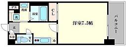 アスヴェル阿波座ブルーアース[7階]の間取り