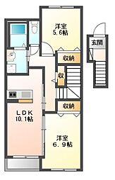 市原市青柳アパート[2階]の間取り