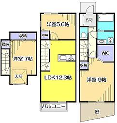 [テラスハウス] 東京都国分寺市光町3丁目 の賃貸【/】の間取り