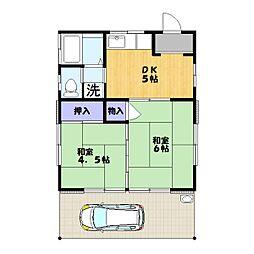 金澤荘[1号室]の間取り