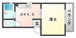 富士マンション[3階]の間取り