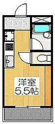プレイム北大路ビル[606号室]の間取り