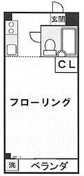 日野グリーンヒルコーポ[3階]の間取り