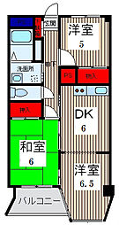 ニューグリーンマンション[3階]の間取り