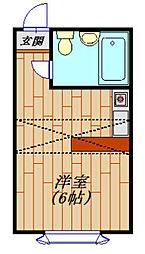 ベルピア天王台1−2[208号室]の間取り