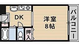 大阪府茨木市小川町の賃貸マンションの間取り