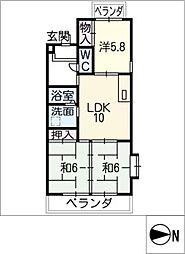 レジデンス井上[5階]の間取り