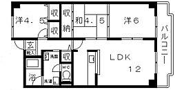 メゾンドール富田林[705号室号室]の間取り