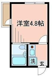 東京都足立区竹の塚5丁目の賃貸アパートの間取り