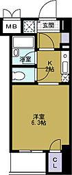 ベルシモンズ大阪港[4階]の間取り