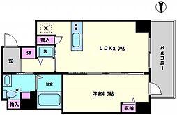 リンクハウス南堀江 3階1LDKの間取り