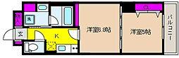 LAFFICE(ラフィーチェ)住吉本町[203号室]の間取り
