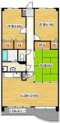 エンデバー武蔵[7階]の間取り