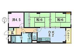 シティパレス本田[301号室]の間取り