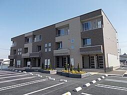 栃木県真岡市粕田の賃貸アパートの外観
