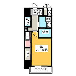 トレフルコート[4階]の間取り