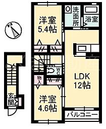 LAVIEST B棟[2階]の間取り